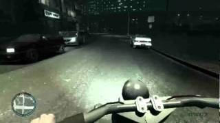 GTA 4 First Person Mod: LC by bike by nite