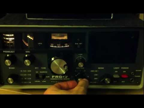 CBC Radio Canada North on Shortwave at 9:26 UTC , Dec 13 , 2011 On Icom IC-R75 and Yaesu FRG-7