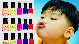 Learn Colors with Funny Baby Nail Art designs Colors | Nursery rhymes songs for Children | KTRV