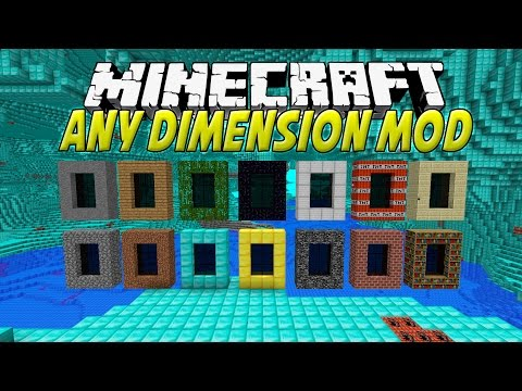 ANY DIMENSION MOD MINECRAFT 1.7.10   Portales a dimensiones epiquísimas   REVIEW ESPAÑOL