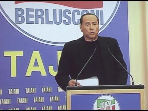 Napoli - Berlusconi in videoconferenza sul caso Geithner (15.05.14)