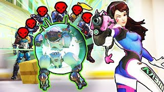 *OP* D.VA Trick NEVER FAILS! - Overwatch Best Plays & Funny Moments #224