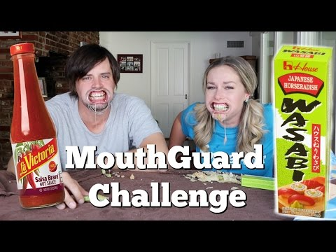 THE CRINGIEST CHALLENGE EVER - Mouthguard challenge FAIL with squid, hot sauce, wasabi