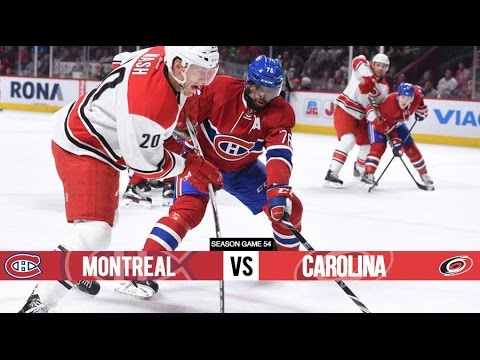 Montreal Canadiens vs Carolina Hurricanes - Season Game 54 - All Goals (7/2/16)