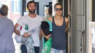 EXCLUSIVE - Alessandra Ambrosio And Jamie Mazur Do Yoga Together