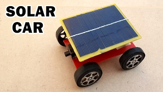 How to Make a Solar Powered Toy Car at Home