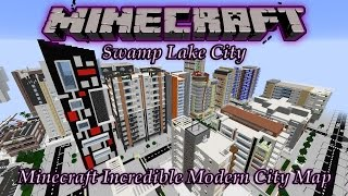 "Minecraft Awesome Modern City Map! ""Swamp Lake City"" (PC Download)"