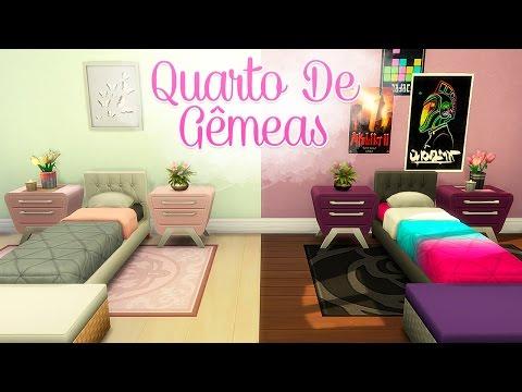 QUARTO DE GÊMEAS OPOSTAS!   #BiaConstrutora - The Sims 4