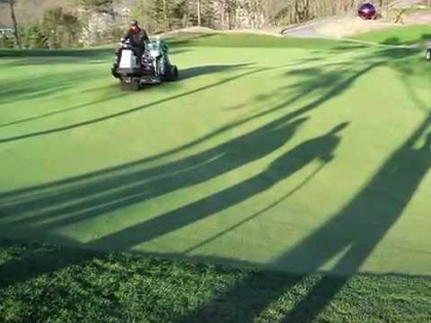 4mm side open tine-golfcourse greens aerification