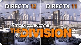 THE DIVISION DirectX 12 vs DirectX 11 | GTX 1070 Frame Rate Comparison
