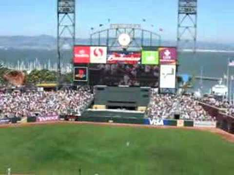 San Francisco Giants Randy Winn's Grand Slam against Dodgers Video