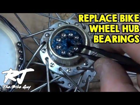 How To Replace Bike Wheel Hub Bearings Youtube