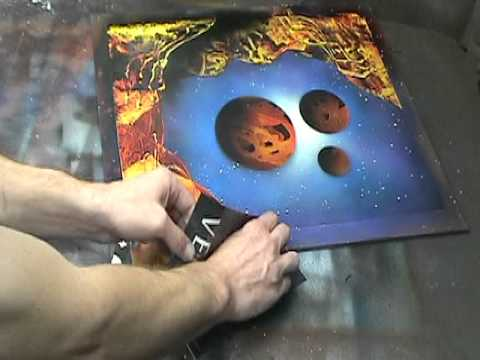 spray paint art step by step dvd sample clip 1 of 4 youtube. Black Bedroom Furniture Sets. Home Design Ideas