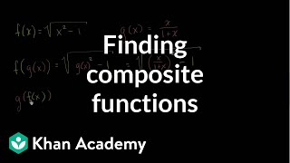 Creating new function from composition | Functions and their graphs | Algebra II | Khan Academy