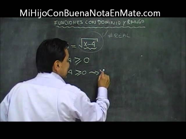 funciones con dominio y rango, ¿sabes calcular el dominio y el rango de una funcion?...