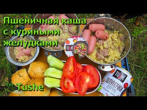 Пшеничная каша с куриными желудками от TUSHE