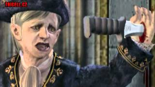 Resident Evil 4 -Salazar with knife in hand cutscene