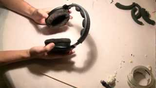 How to install memory foam in Sennheiser HD 580 ear pads & head pad (600, 650)