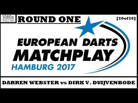 Round 1 [10of16]: Darren Webster v Dirk van Duijvenbode & Interview - European Darts Matchplay