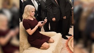 Kellyanne Conway couch photo sparks memes