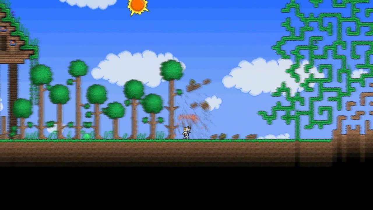 Terraria playing with dirt youtube