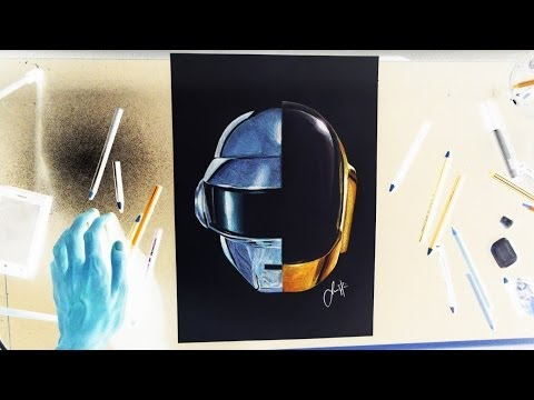 DAFT PUNK HELMET - Inverse Drawing