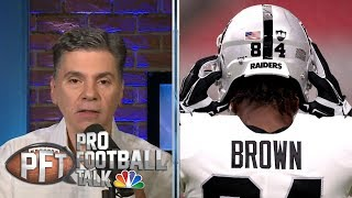 Mike Mayock putting pressure on Antonio Brown to show up | Pro Football Talk | NBC Sports