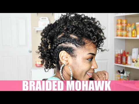 Braided Mohawk Natural Hairstyle