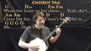Beautiful Crazy (Luke Combs) Banjo Cover Lesson with Chords/Lyrics - Capo 4th