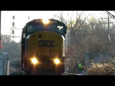 CSX SD60I Powers Up After Unexpected Stop in Jessup