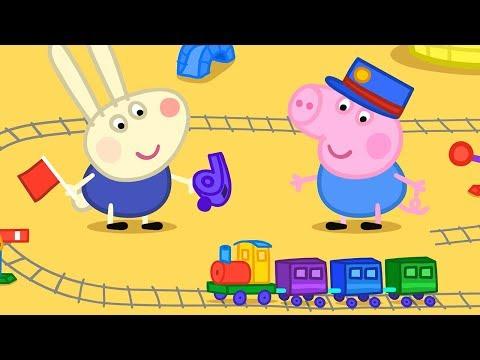 Свинка Пеппа на русском все серии подряд | Время игры с Джорджем и Ричардом Кроликом | Мультики