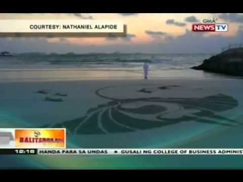 BT: OFW sa Dubai, unti-unting nakikilala dahil sa kanyang sand art