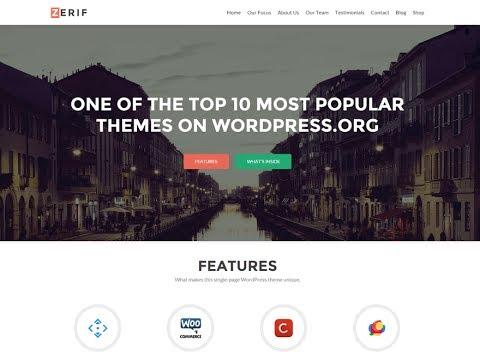 How To Make Portfolio Website In WordPress Step By Step Zerif Lite WordPress Theme Customization Tut
