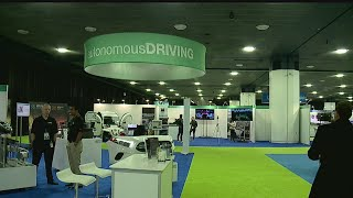 Auto show focus on self-driving vehicles