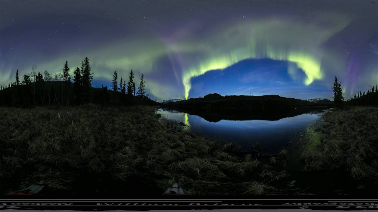 Gulkana 360: EPIC NORTHERN LIGHTS 360 VR FOOTAGE MUST WATCH!