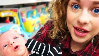SOCKIE AND NAZ GET CURLY HAIR AND TAKE BABY SHOPPING
