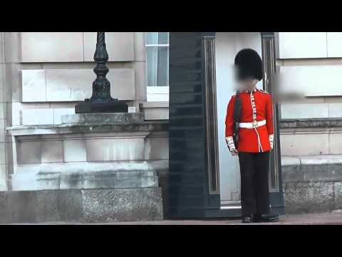 Buckingham Palace Royal Guard Points SA80 at tourist