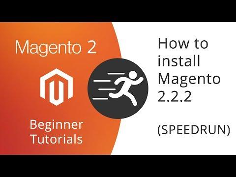 Magento 2 Beginner Tutorials - How to install Magento 2.2.2 (SPEEDRUN and TEST)