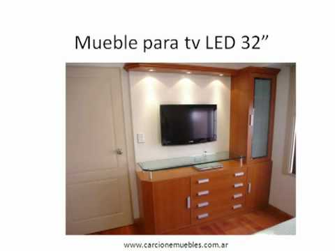 Muebles para tv plasma hector carcione e hijo youtube for Muebles para tv contemporaneos