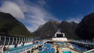 New Zealand cruise, Princess cruises Sea Princess filmed with GoPro
