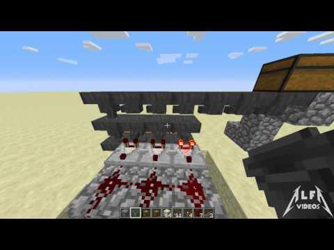 Minecraft: Tuto Redstone: Almacén automático con Tolvas
