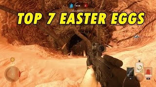 Top 7 Easter Eggs - Star Wars Battlefront - Tusken Raiders, Wampa, Sarlacc Pit and More