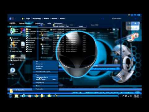 instalar tema de alienware blue loquendo parte 1