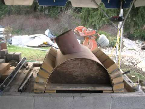 Wood Fired Pizza Oven Outdoor Fireplace Youtube