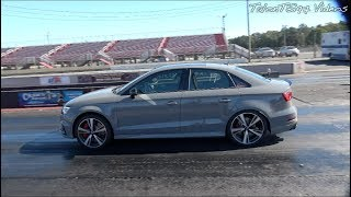 SLEEPER AUDI RS3 Goes 10.2 At 140mph! Stock Appearing