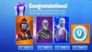 *GIFTING* SUBSCRIBERS NEW RARE SKINS! GIFTING SKINS ON FORTNITE (Skull Trooper & GALAXY)