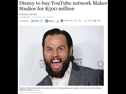 Shay Carl Sells Maker Studios to Disney for $500,000,000+