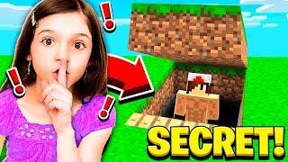I FOUND MY LITTLE SISTER'S SECRET WORLD in Minecraft!