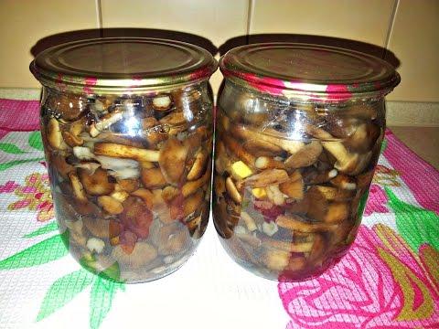 Маринованные грибы на зиму. Хороший рецепт маринованных опят.