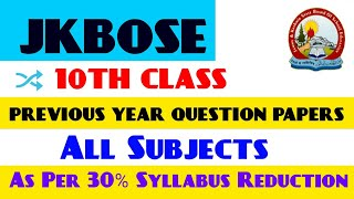 10th Class Previous Year Question Papers | Done as Per 30% Syllabus Reduction